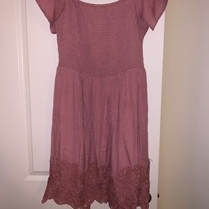 Dusty rose knee length dress